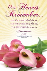 Our Hearts Remember (Psalm 25:1, NIV 1984) Bulletins, 100