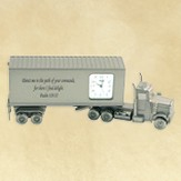 Tractor Trailer Truck Desk Clock, Psalm 119:35