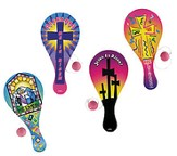 Easter Inspirational Paddleball Games, Pack of 12