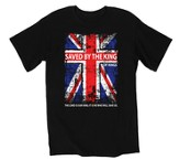 Saved By the King Shirt, Black, Extra Large