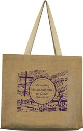Music Expressions of Praise Jute Tote Bag