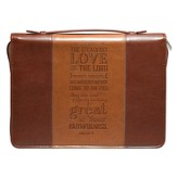 Steadfast Love Bible Cover, Lux-Leather, Brown, Large