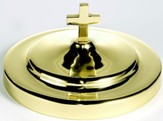 Solid Brass Stacking Bread Plate Cover