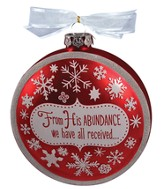 Gracious Blessing Glass Ornament