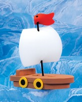 Seaside Boat Crafts, pack of 12