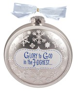 Glory to God in the Highest Glass Ornament