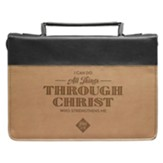 I Can Do All Things Bible Cover, Lux-Leather, Brown and Tan, Medium