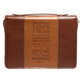 Steadfast Love Bible Cover, Lux-Leather, Brown, Medium