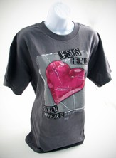 Jesus Heals Broken Hearts Shirt, Gray, Small