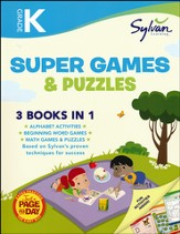 Kindergarten Super Games & Puzzles (Sylvan Super Workbook)