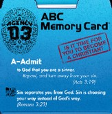 ABC Memory Card, pack of 25