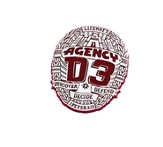 Agency D3 Badges, pack of 5