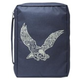 Eagle, Polyester Bible Cover, Navy, Medium