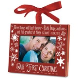 Our First Christmas Photo Frame Ornament