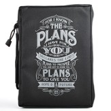 I Know the Plans, Polyester Bible Cover, Black, Medium