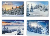 White Christmas, Box of 12 Assorted Christmas Cards (KJV)