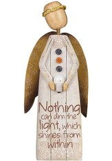 Nothing Can Dim the Light Angel Figurine