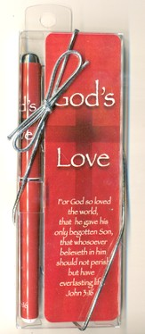 God's Love Pen and Bookmark Set