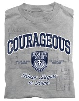 Courageous Shield, Joshua 24:15 Shirt, Gray, 4X Large