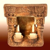 Temple Shabbat Candle Holder