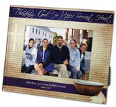 Thanking God for Your Servant Heart Photo Frame