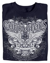Courageous Wings Shirt, Joshua 24:15 Shirt, Navy, Medium