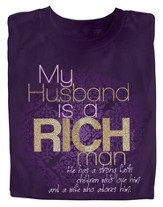 My Husband is a Rich Man Shirt, Purple, Large