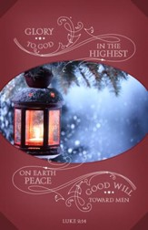 Glory to God in the Highest (Luke 2:14, KJV) Christmas Bulletins, 100