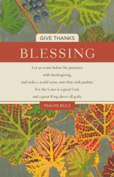 Blessing (Psalm 95:2-3, KJV) Bulletins, 100