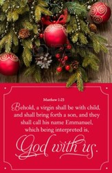 Emmanuel, God With Us (Matthew 1:23, KJV) Christmas Bulletins, 100