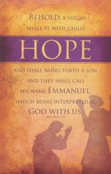 Hope (Matthew 1:23, KJV) Bulletins, 100