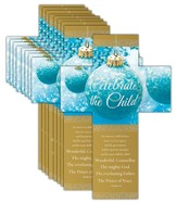 Celebrate the Child (Isaiah 9:6, KJV) Cross Design Bookmarks, 25