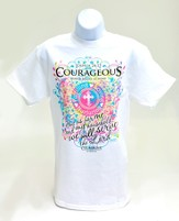 Courageous Ladies Shirt, White, Extra Large