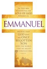 Emmanuel (1 John 4:9, KJV) Cross Design Bookmarks, 25
