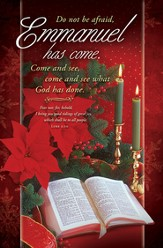 Emmanuel has Come (Luke 2:10) Bulletins, 100