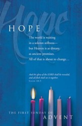 Hope ( Isaiah 40:5) Bulletins, 100