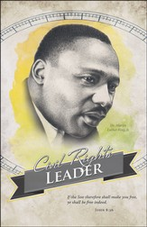 Black History - Civil Right's Leader - MLK (John 8:36) Bulletins, 100