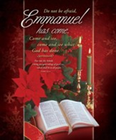Emmanuel Has Come (Luke 2:10) Large Bulletins, 100