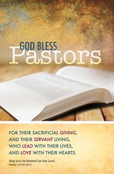 God Bless Pastors (Psalm 115:15, ESV) Bulletins, 100