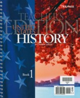 BJU Heritage Studies 11: United States History, Teacher's Edition  (Third Edition)