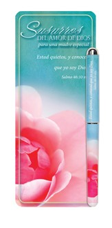 Whispers of God's Love Mother Jumbo Bookmark and Pen Set, Spanish