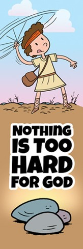 Nothing Is Too Hard Bookmarks (1 Samuel 17:1-54) pack of 25