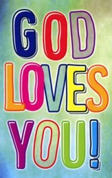 God Loves You Postcards (Psalm 100:2) pack of 25