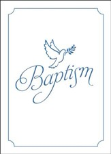 Dove Blue Foil Embossed Folded Baptism Certificates (Mark 16:16) 6