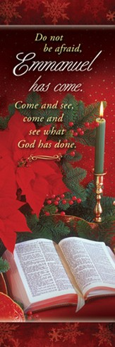 Emmanuel Has Come (Luke 2:10) Christmas Bookmarks, 25