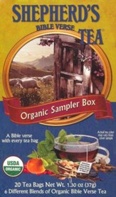 Organic Bible Verse Tea Sampler, Box of 20 Tea Bags