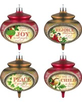 Christmas Carol Ornament, Set of 4