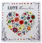 Love Blooms Here Tile