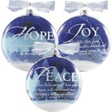Set Of Three Snowglobe Ornaments