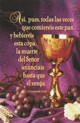 Chalice Spanish Communion Bulletins (1 Corinthians 11:26, RVR 1960) 100